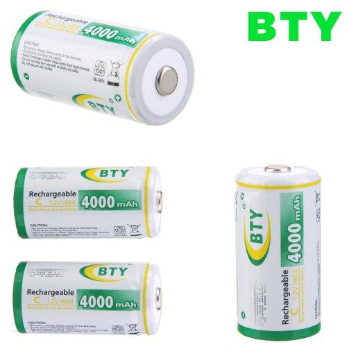 4x Wiederaufladbare Wiederaufladbar Rechargeable Akku Batterie Baby C HR14 4000 mAh