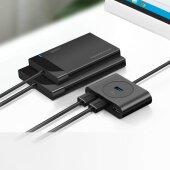 4 Port USB 3.0 HUB USB Verteiler Adapter Splitter Super Speed USB 2.0 kompatibel Schwarz