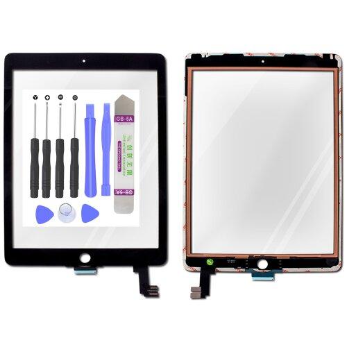 iPad Air 2 2014 9.7 A1566 A1567 Touchscreen Digitizer Display Glas Scheibe Schwarz