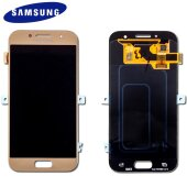 Samsung Galaxy A3 (2017) SM-A320F LCD Display+Touch Screen Bildschirm Gold (Service Pack)