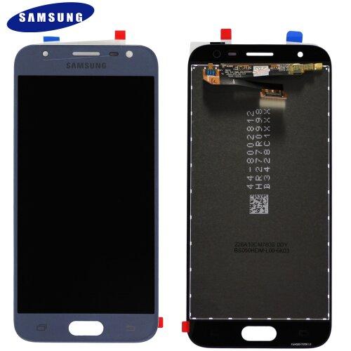 Samsung Galaxy J3 2017 SM-J330F LCD Display Touch Screen (Service Pack) Silver/Blau GH96-10992A