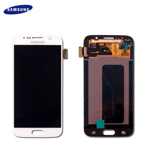 Original Samsung Galaxy S6 SM-G920F LCD Display + Touch Screen Bildschirm GH97-17260B Weiß