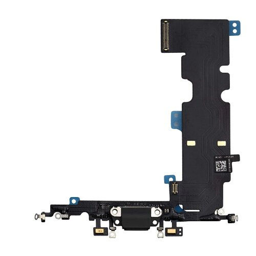 iPhone 8 Plus 5,5 Ladebuchse Lightning Dock Connector LadePort Flex Mikrofon Schwarz