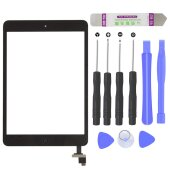 iPad Mini 1/2 Touch Screen LCD Digitizer Glas Panel Glasscheibe inkl.Klebepads Schwarz