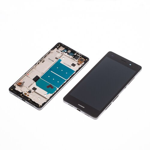 Huawei P8 Lite Display+Touch LCD Touch Screen Bildschirm Rahmen Schwarz