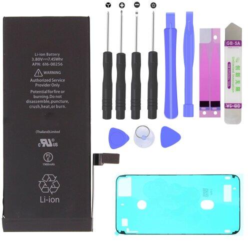 Akku Battery für iPhone 7 (A1660, A1779, A1780) 1960mAh + LCD Kleber + Werkzeug
