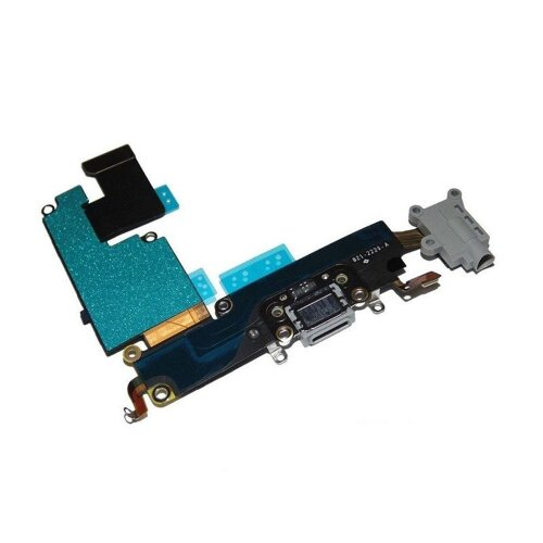 iPhone 6 Plus 5.5 Dock Connector Ladebuchse Antenne Audio Jack Flex Grau