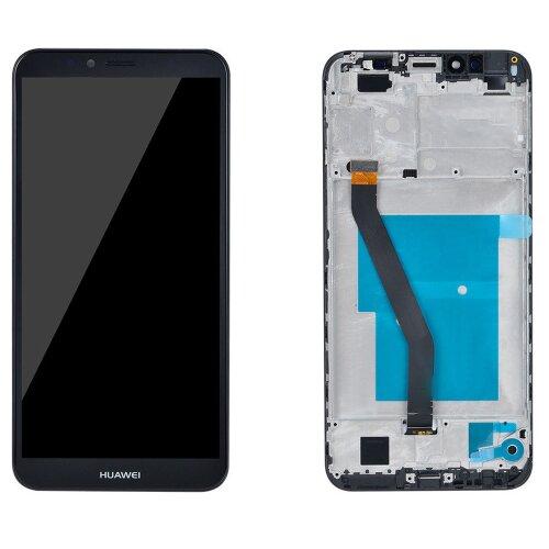 Original Huawei Y6 2018 LCD Display +Touch Glas Screen Bildschirm Rahmen Schwarz