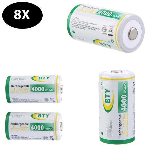 8x Baby C HR14 Wiederaufladbare Wiederaufladbar Rechargeable Akku Batterie NI-MH