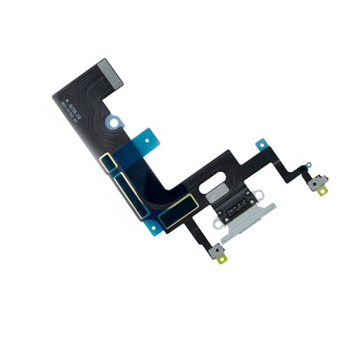 iPhone XR Dock Connector Lightning Ladebuchse Port Charging Flex Kabel Mikrofon Weiß