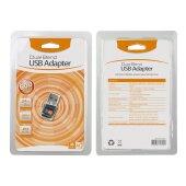 AC 600 Mbps Mbit/s WLAN WIFI Adapter Stick dual band 2.4GHz / 5GHz USB Wireless