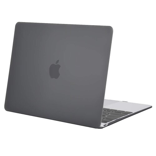 Apple MacBook 12 Retina Schutz Hülle Hard Cover Slim Case A1534 (2017/2016/2015) Grau