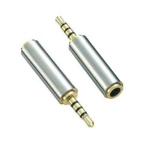 2,5 mm Klinkenstecker auf 3,5 mm Buchse Stecker Klinke Audio Stereo Adapter