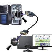 3m Displayport DVI Kabel   Display Port auf DVI-D DVI 24+1 Stecker DP Adapter 1080P