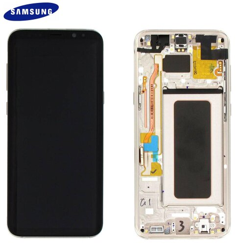Samsung Galaxy S8 Plus G955F LCD Display Touch Screen Bildschirm GH97-20470F (Service Pack) Gold