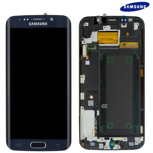 Samsung Galaxy S6 EDGE SM-G925F LCD Display Touch Screen GH97-17162A (Service Pack) Schwarz