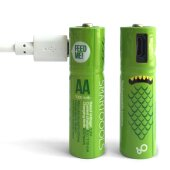 AA Micro USB Wiederaufladbare Wiederaufladbar Akku...