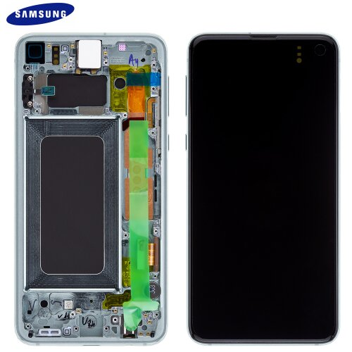 Samsung Galaxy S10e G970F GH82-18852E LCD Display Touch Screen (Service Pack) Prism Grün