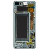 Original Samsung Galaxy S10 Plus G975F GH82-18849E LCD Display Touch Screen Prism Grün