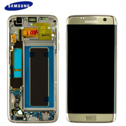 Samsung Galaxy S7 EDGE SM-G935F LCD Display+Touch Screen Bildschirm Gold GH97-18533C