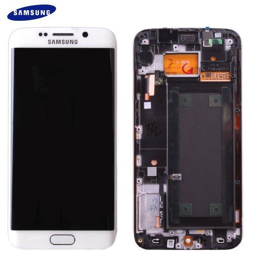 Samsung Galaxy S6 EDGE SM-G925F LCD Display Touch Screen GH97-17162B (Service Pack) Weiß