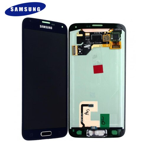 Samsung Galaxy S5 SM-G900F LCD Display Touch Screen (Service Pack) GH97-15959D Schwarz