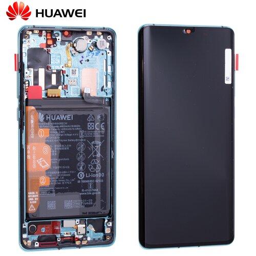 Original Huawei P30 Pro OLED LCD Display+Touch Screen Bildschirm rahmen mit Akku Aurora Blau