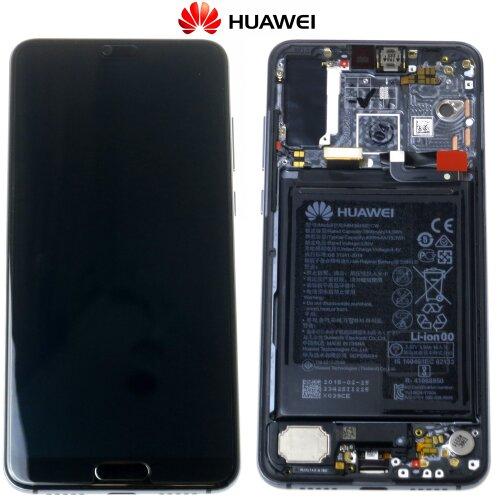Original Huawei P20 Pro LCD Display+Touch Screen Bildschirm Rahmen mit Akku 02351WTP Schwarz