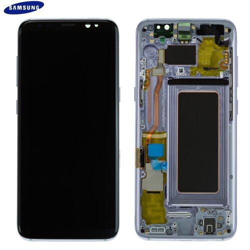 Samsung Galaxy S8 SM-G950F AMOLED LCD Display Touch Screen Bildschirm GH97-20457C Orchid Grau