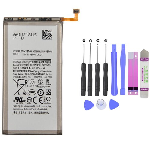 Akku für Samsung Galaxy S10 Plus SM-G975F Batterie Battery EB-BG975ABU 4100mAh