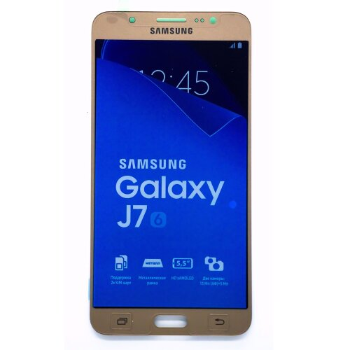 Original Samsung Galaxy J7 2016 SM-J710F J710FN/DS LCD Display Touch Screen Glas Bildschirm Gold