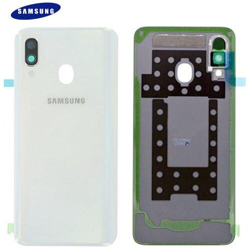 Original Samsung Galaxy A40 A405F Akkudeckel Battery Cover Backcover Weiß GH82-19406B