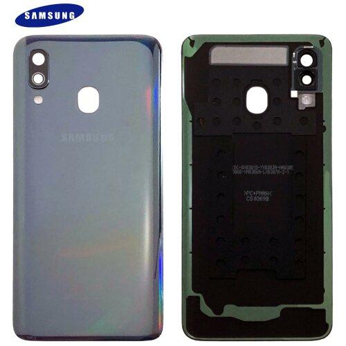 Original Samsung Galaxy A40 A405F Akkudeckel Battery Cover Backcover Schwarz GH82-19406A