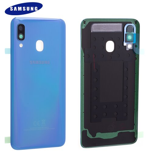 Original Samsung Galaxy A40 A405F Akkudeckel Battery Cover Backcover Blau GH82-19406C