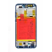 Original Huawei Honor 9 Lite LCD Display Touch Screen Bildschirm Rahmen mit Akku Blau 02351SNQ