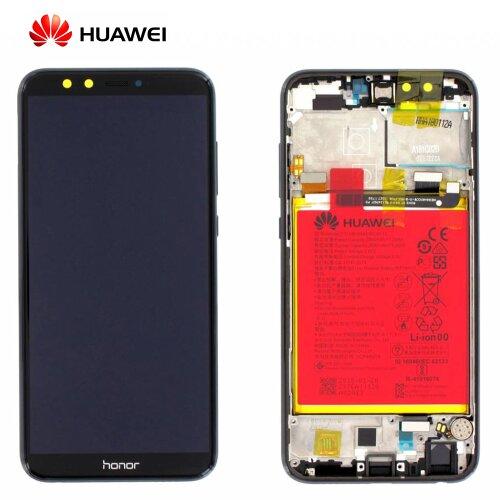 Original Huawei Honor 9 Lite LCD Display Touch Screen Bildschirm Rahmen mit Akku Schwarz 02351SNN