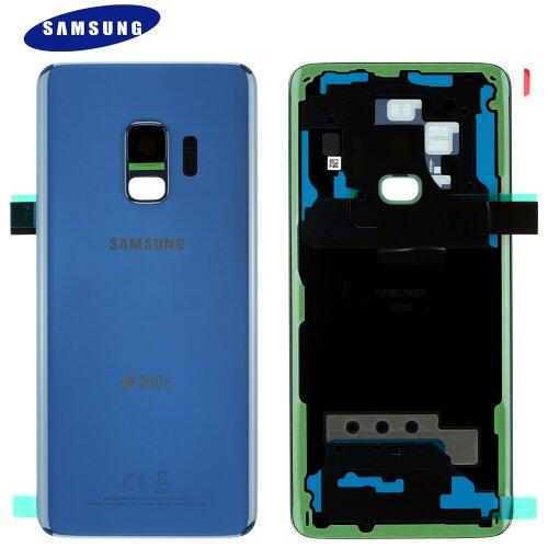 Original Samsung Galaxy S9 Duos G960F G960F/DS Akkudeckel Battery Cover Backcover Blau GH82-15875D
