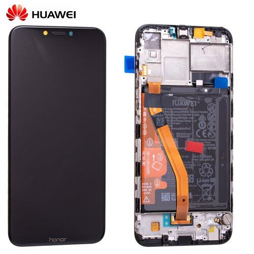 Huawei Honor Play LCD Display Touchscreen Bildschirm Rahmen mit Akku 02351YXV Schwarz
