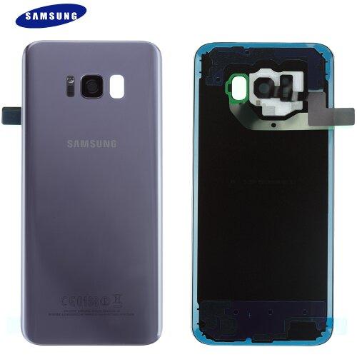 Original Samsung Galaxy S8 Plus G955F Akkudeckel Backcover Orchid Grau GH82-14015C