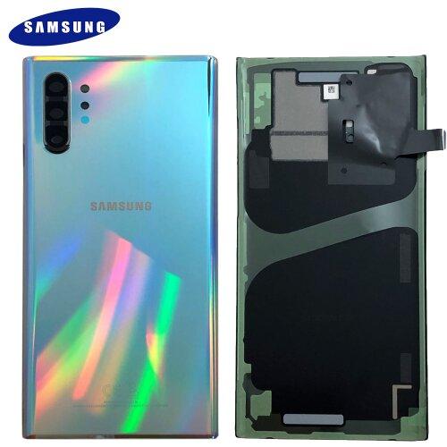 Original Samsung Galaxy Note 10 Plus N975F Akkudeckel Back Cover Aura Glow Silber GH82-20588C