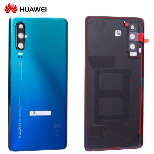 Original Huawei P30 Akkudeckel Battery Cover Backcover Aurora Blau 02352NMN