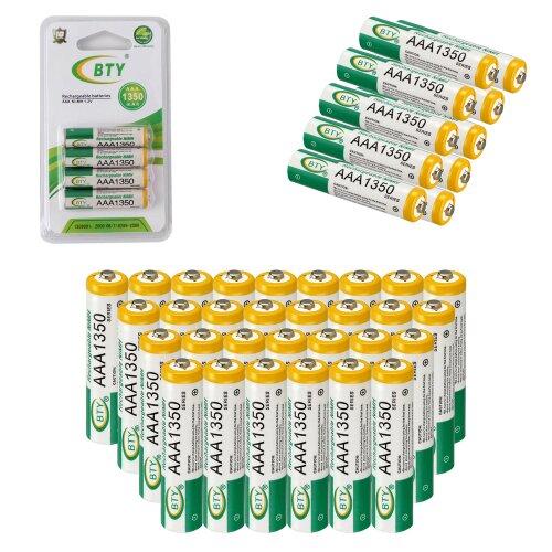 BTY Wiederaufladbare Wiederaufladbar Akku Batterien Batterie Accu AAA 1350 mAh