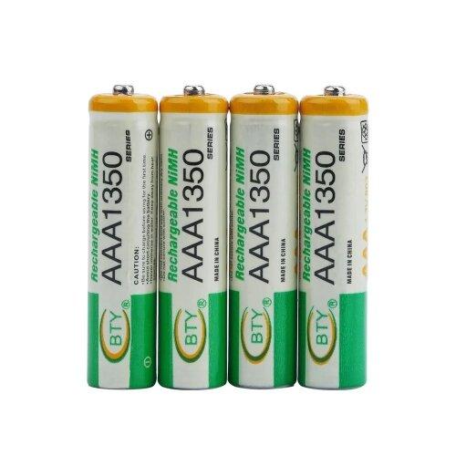 BTY Wiederaufladbare Wiederaufladbar Akku Batterien Batterie Accu AAA 1350 mAh 1 X 4er Blister