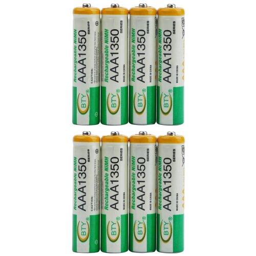 BTY Wiederaufladbare Wiederaufladbar Akku Batterien Batterie Accu AAA 1350 mAh 2 X 4er Blister