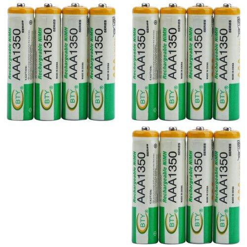 BTY Wiederaufladbare Wiederaufladbar Akku Batterien Batterie Accu AAA 1350 mAh 3 X 4er Blister