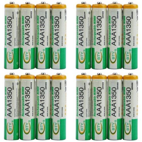 BTY Wiederaufladbare Wiederaufladbar Akku Batterien Batterie Accu AAA 1350 mAh 4 X 4er Blister