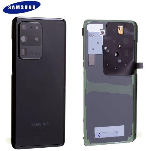 Original Samsung Galaxy S20 Ultra 5G G988B Akkudeckel Back Cover Schwarz GH82-22217A