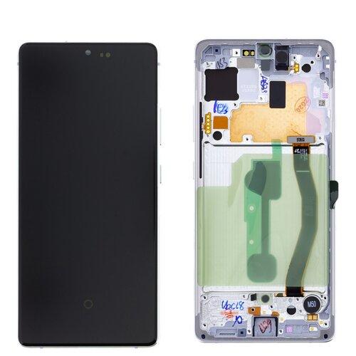 Samsung Galaxy S10 Lite G770F GH82-21672B LCD Display Touch Screen Prism Weiß