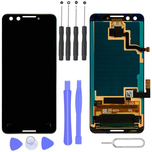 Google Pixel 3 LCD Display Bildschirm Glas Scheibe Touch Screen Schwarz
