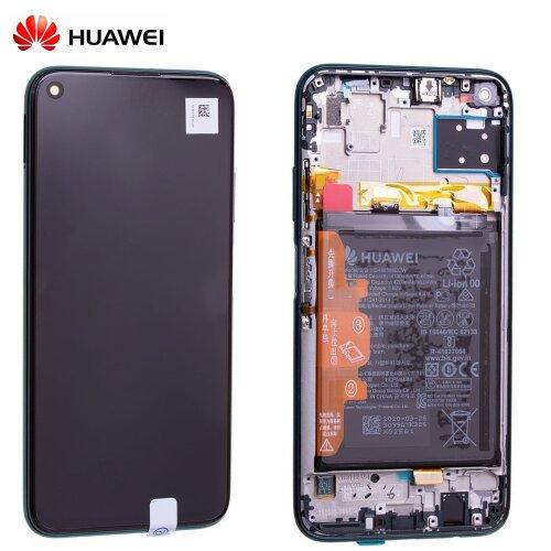 Original Huawei P40 Lite LCD Display Touch Screen Bildschirm Rahmen mit Akku Grün